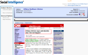 Social Intelligence – Hilary Fails the Social Media Screening