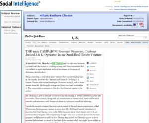 Social Intelligence – Hilary Web & Social Media Investigation