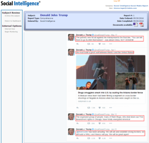 Social Intelligence – Trump Social Fails Media Screening