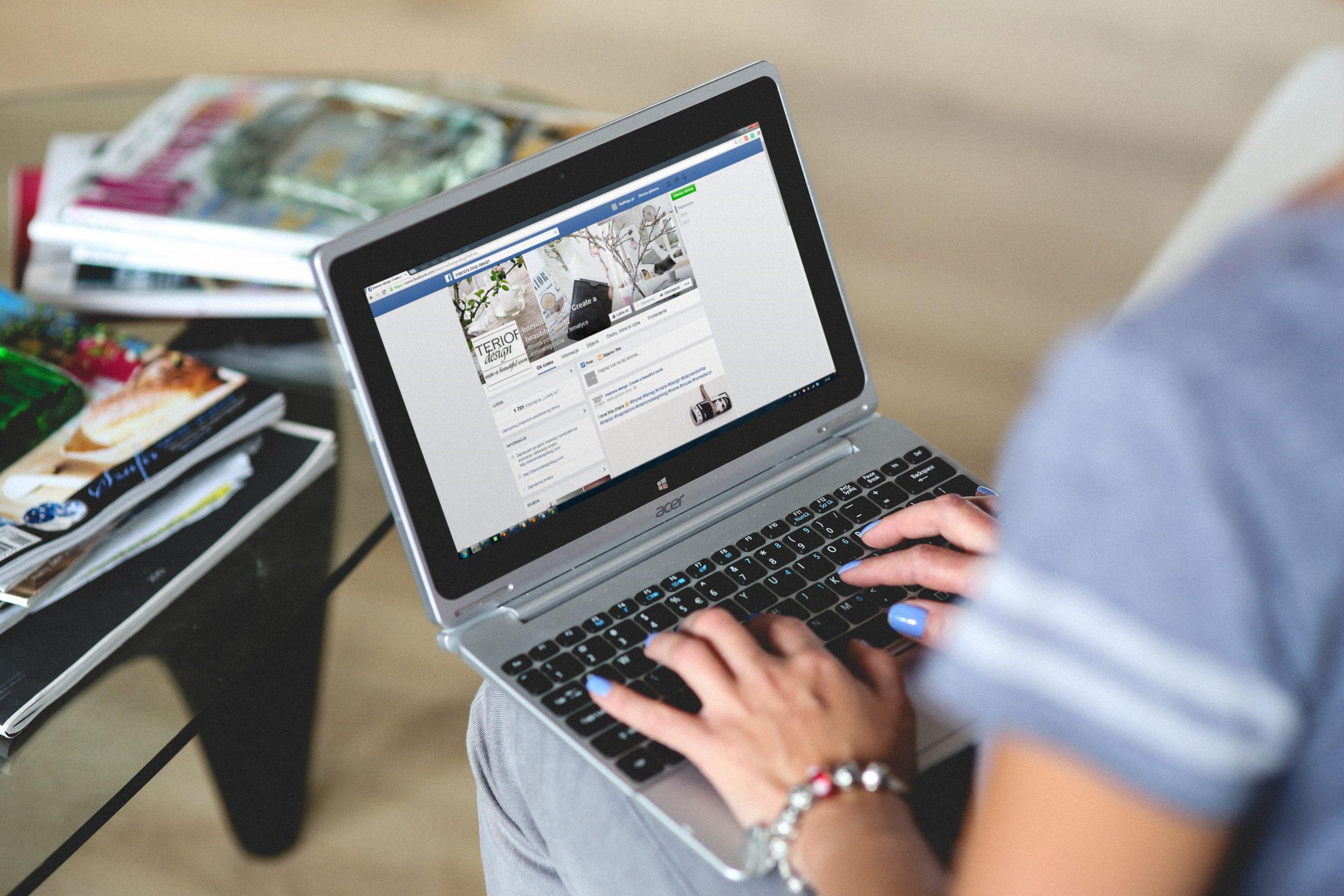 hands woman laptop notebook